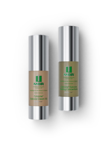 product arrangement of eyecare cream 100 and eyecare firming concentrate - biochange cytoline collection
