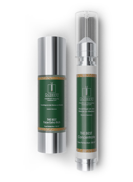 product arrangement of the best face extra rich and the best concentrate - pure perfection 100 N the best collection